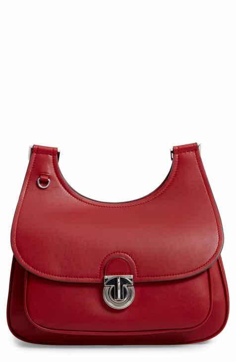 Tory Burch James Leather Saddle Bag