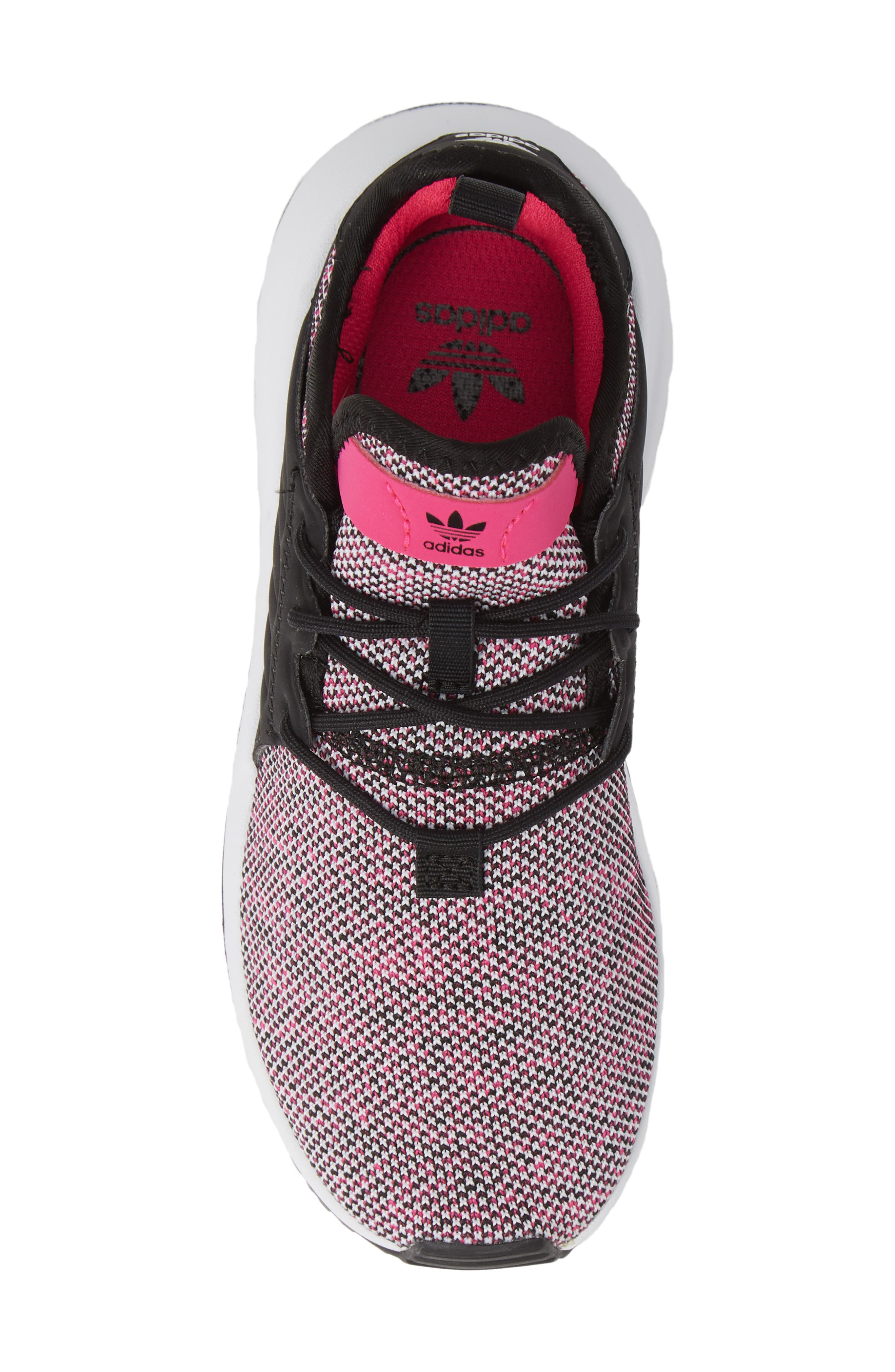 X_PLR Sneaker,                             Alternate thumbnail 5, color,                             Shock Pink/ Black/ White
