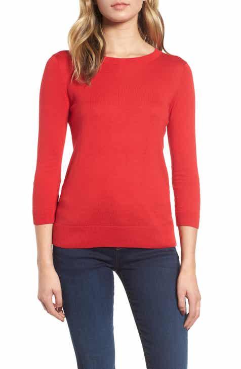 ce9b9468e9b67a 1901 Back Button Crewneck Sweater (Regular & Petite)