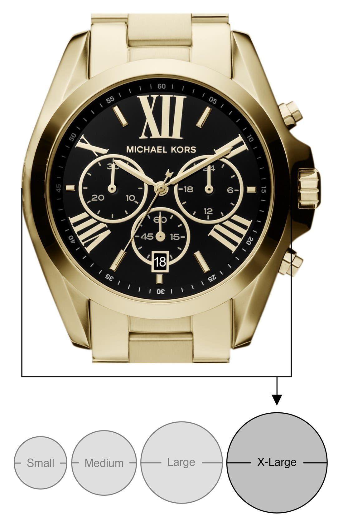Alternate Image 2  - Michael Kors Bradshaw Chronograph Bracelet Watch, 43mm