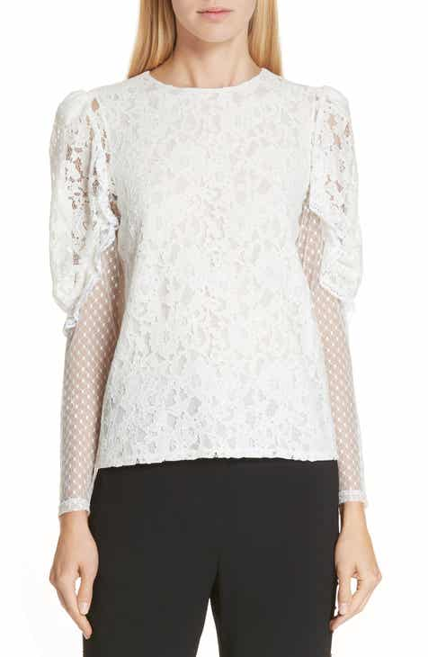 8742178c38c4a See by Chloé Lace Leg of Mutton Top