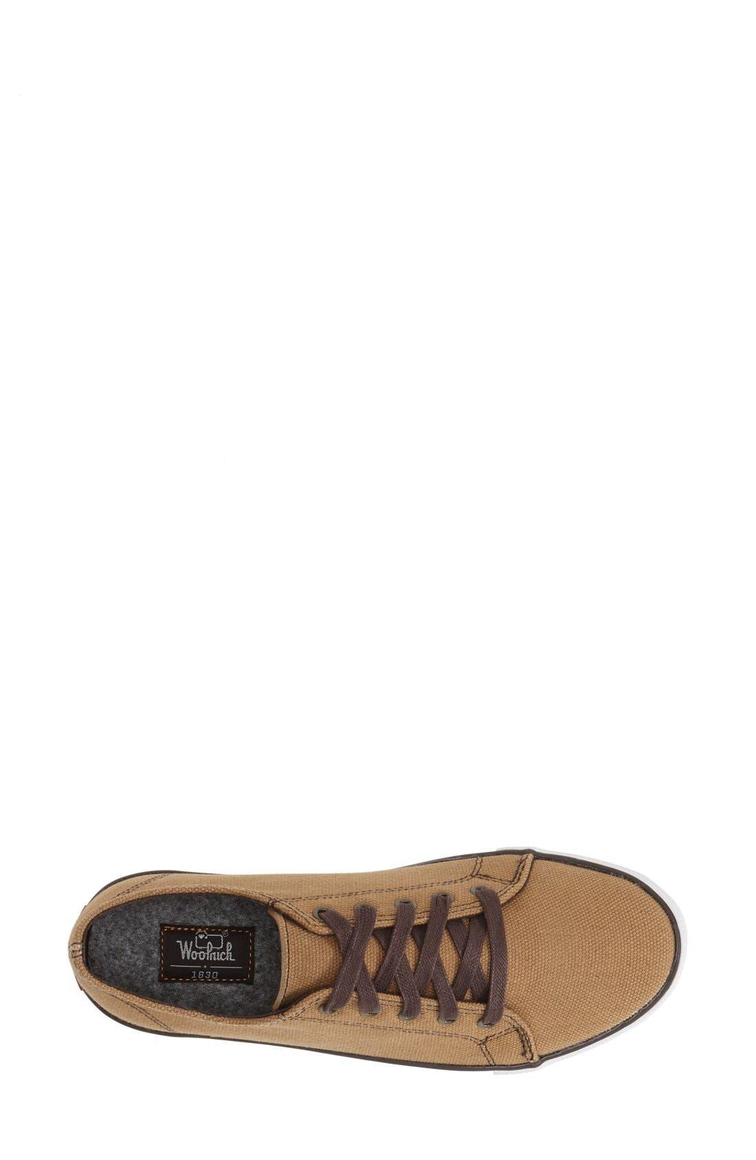 'Strand' Sneaker,                             Alternate thumbnail 3, color,                             Brush Brown Canvas