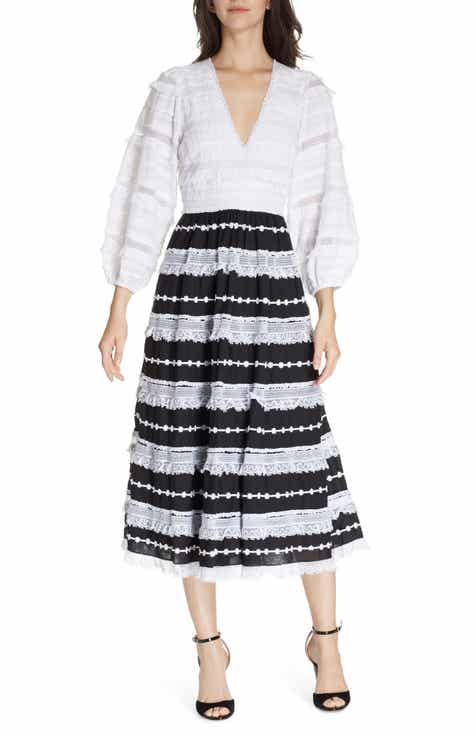 acf6908aa05b Ulla Johnson Charline Bicolor Midi Dress