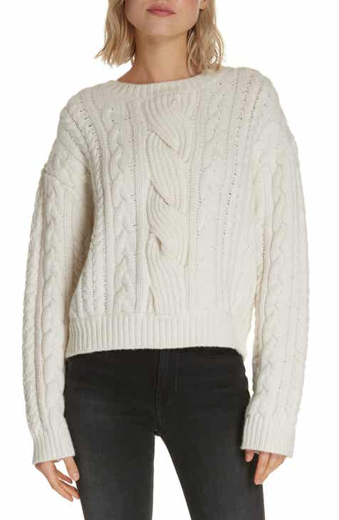 68439e3b00c3 FRAME Cable Knit Wool Blend Sweater