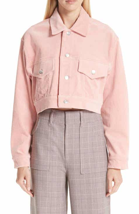 Ganni Stretch Crop Corduroy Jacket by GANNI