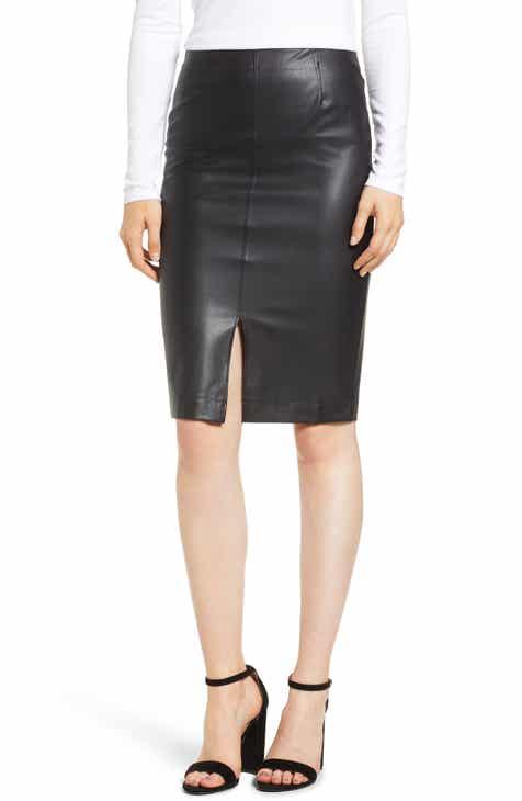 fa151d397d David Lerner Faux Leather Pencil Skirt