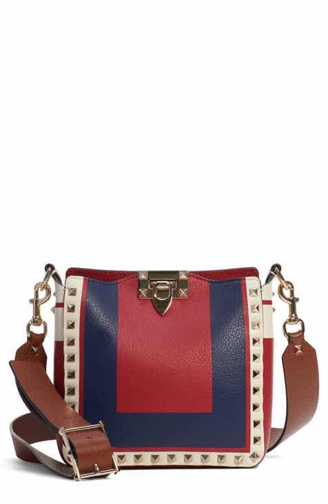 VALENTINO GARAVANI Mini Rockstud Leather Hobo Bag 5703609e67535