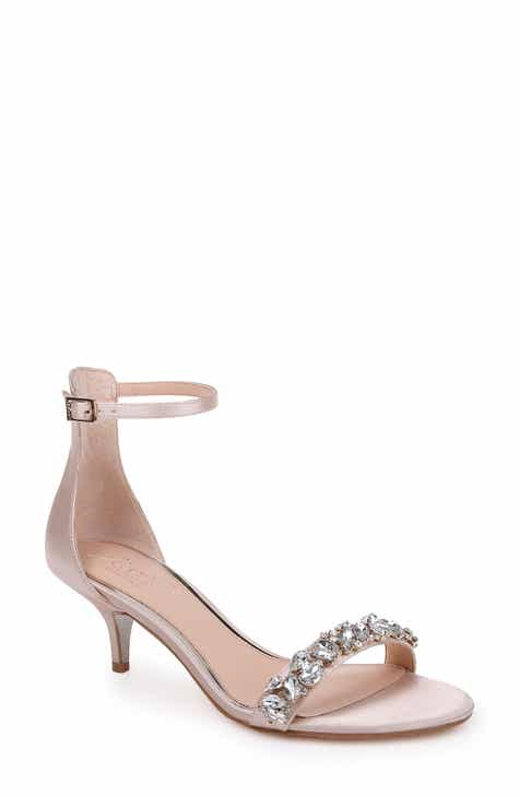 Jewel Badgley Mischka Dash Embellished Halo Strap Sandal (Women) d7907149ec