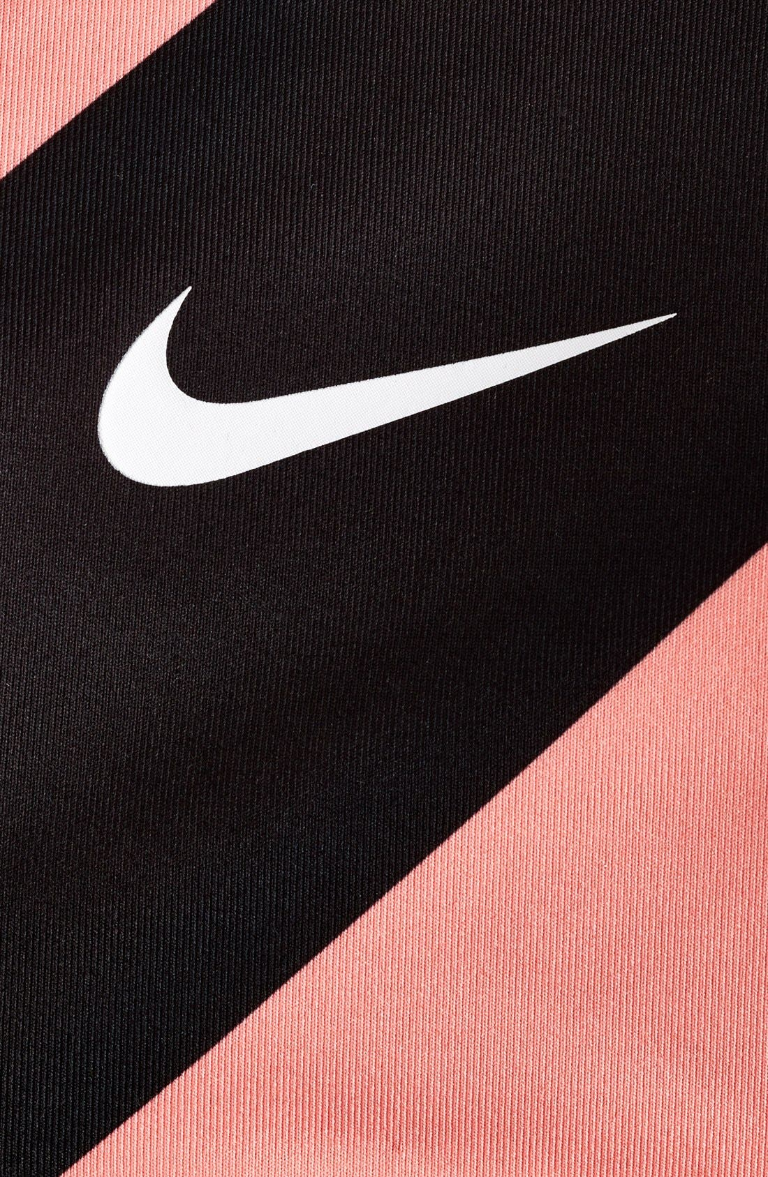 Alternate Image 6  - Nike 'Pro Classic' Diagonal Stripe Padded Dri-FIT Sports Bra