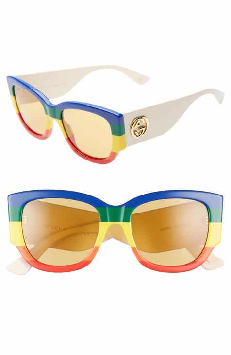 325bb3d7df323 Gucci 53mm Striped Cat Eye Sunglasses