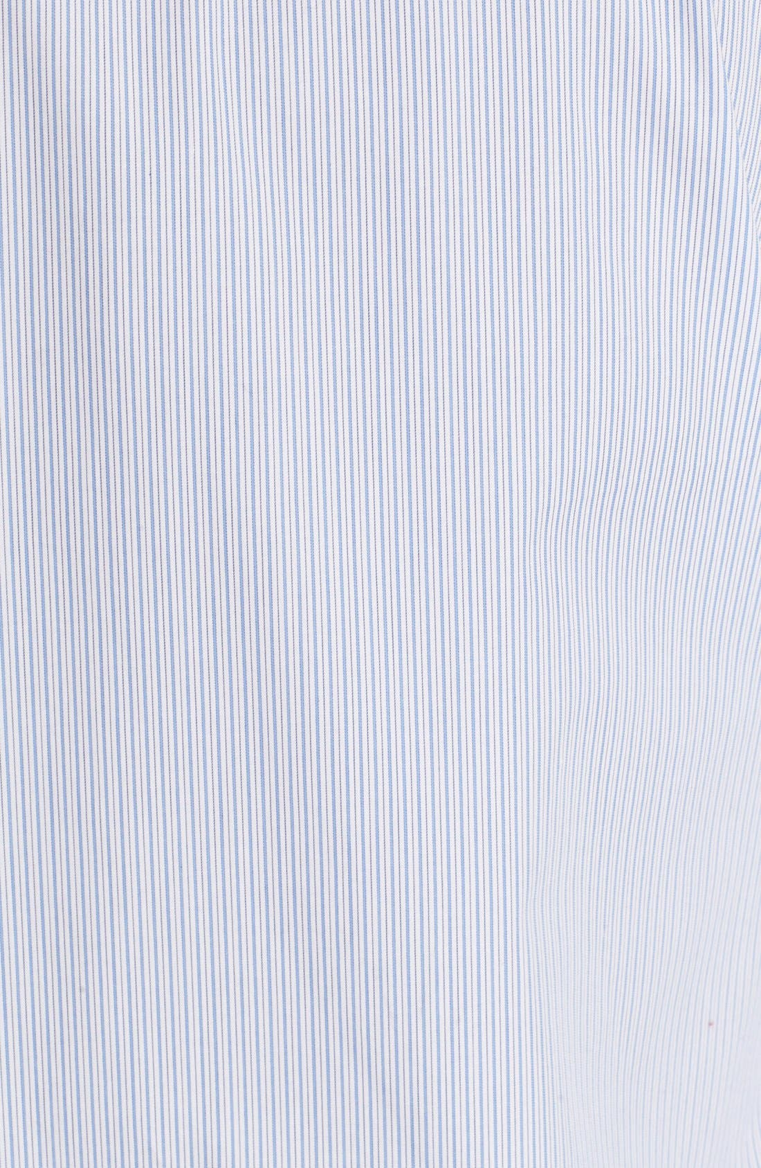 'Brett' Stripe Shirtdress,                             Alternate thumbnail 3, color,                             Periwinkle Blue/ Bright White