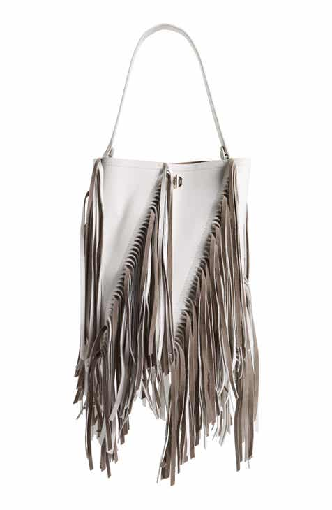 c1d71c356f Proenza Schouler Medium Hex Fringe Calfskin Leather Bucket Bag (Regular  Retail Price: $1,895.00)
