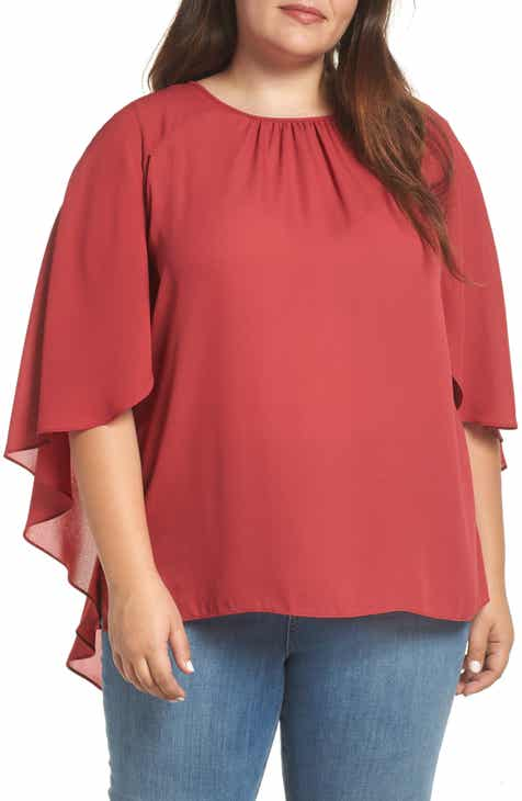 4c11fb0ee07 Vince Camuto Cape Blouse (Plus Size)