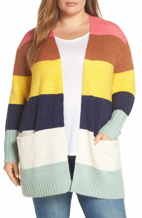 9637fafd94 Caslon® Stripe Cardigan (Plus Size)