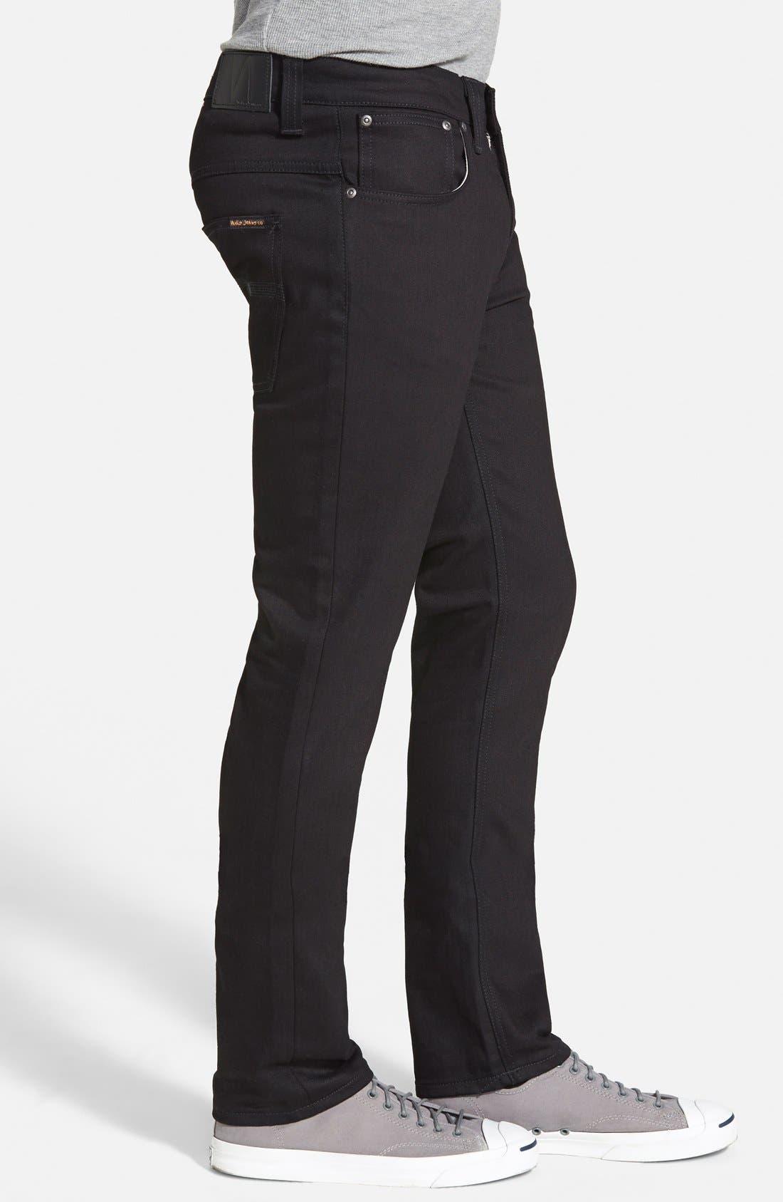Alternate Image 3  - Nudie Jeans 'Thin Finn' Skinny Fit Jeans (Black Ring)