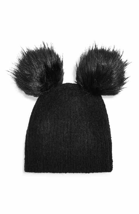 236133306df Topshop Faux Fur Double Pompom Beanie