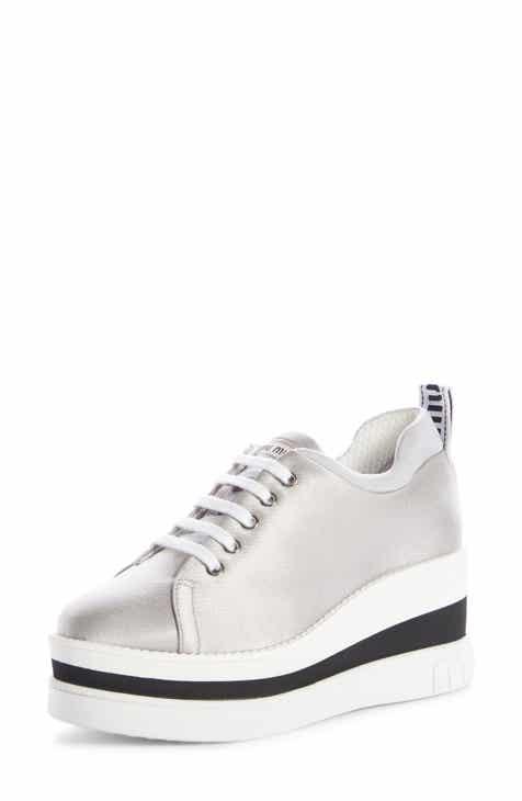 2fb230f3481 Miu Miu Platform Wedge Sneaker (Women)