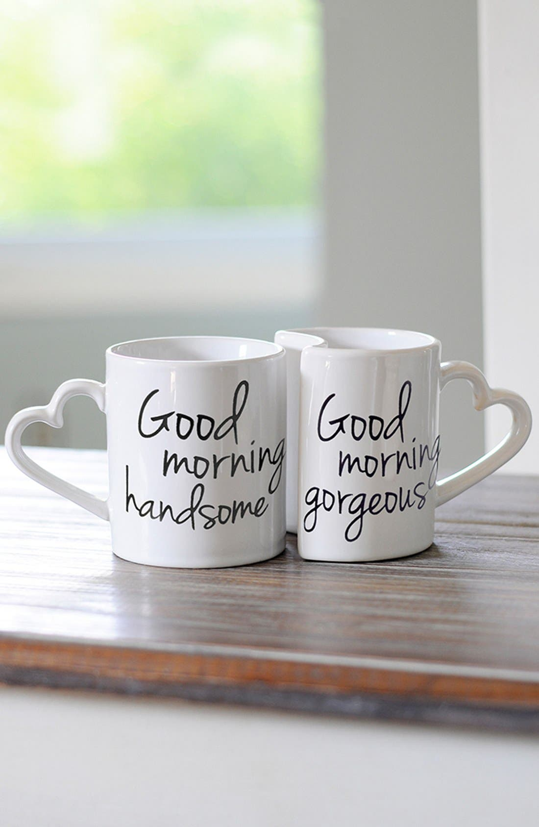 Alternate Image 1 Selected - Cathy's Concepts 'Good Morning' Ceramic Coffee Mugs (Set of 2)