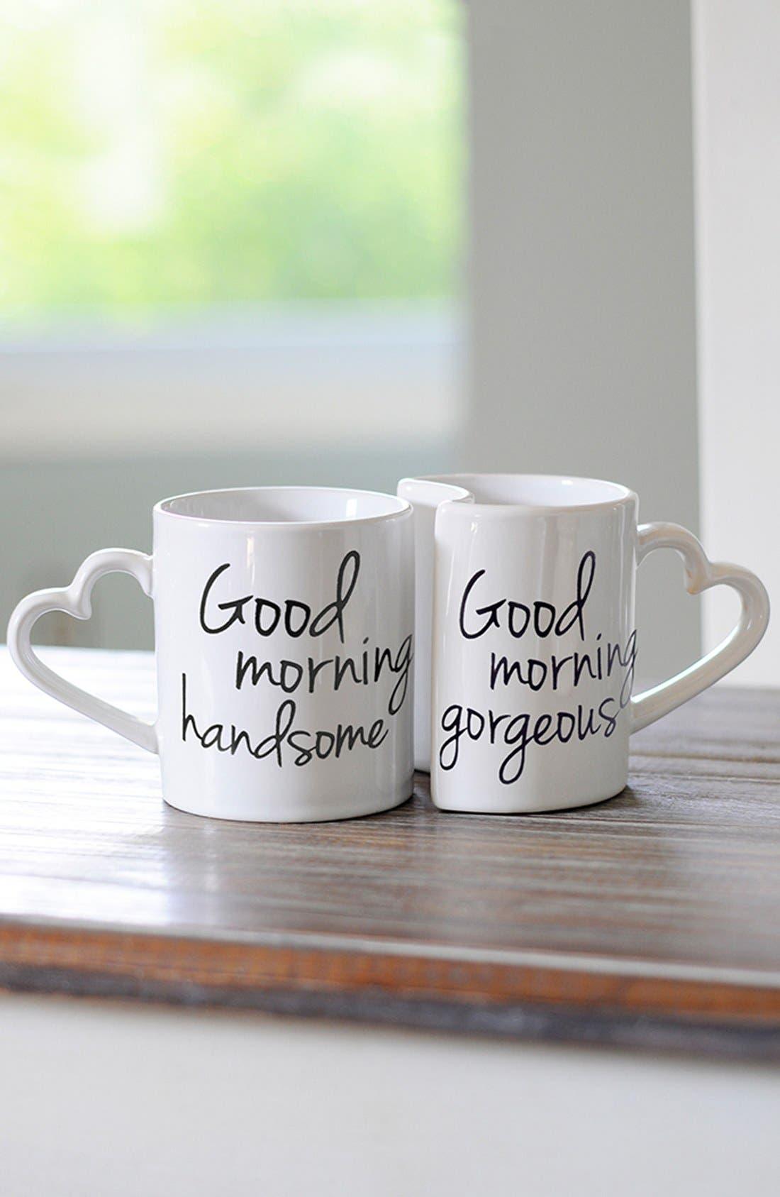 Main Image - Cathy's Concepts 'Good Morning' Ceramic Coffee Mugs (Set of 2)