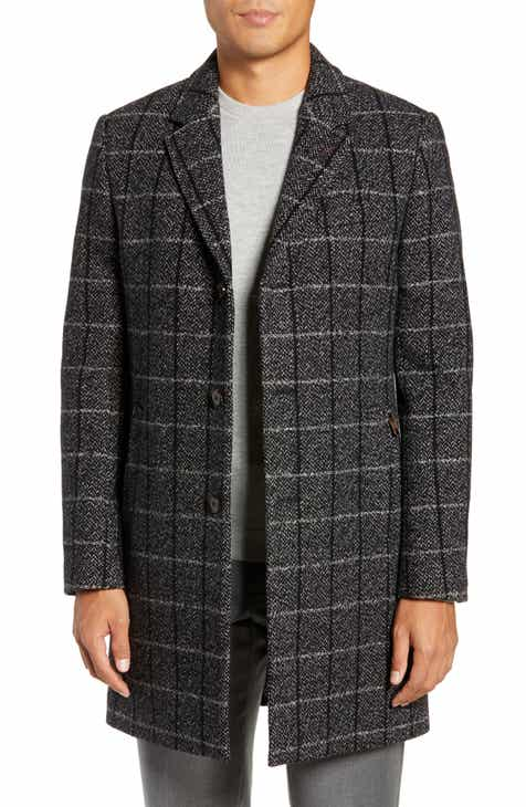 702e514dc8a2 Ted Baker London Ando Slim Checked Overcoat