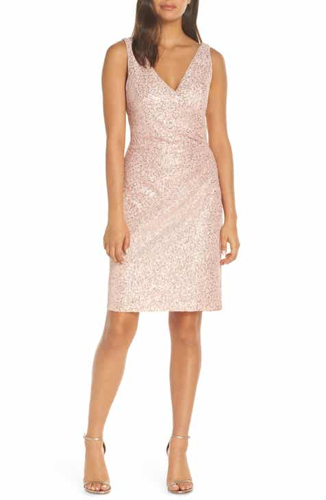 790af9a89f8 Vince Camuto Sleeveless V-Neck Embellished Cocktail Dress