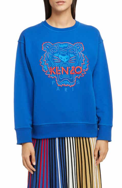 c35f8f5a52dd KENZO Bicolor Embroidered Tiger Sweatshirt