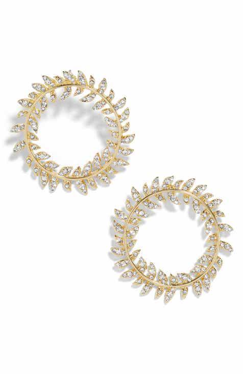 BaubleBar Protea Hoop Earrings