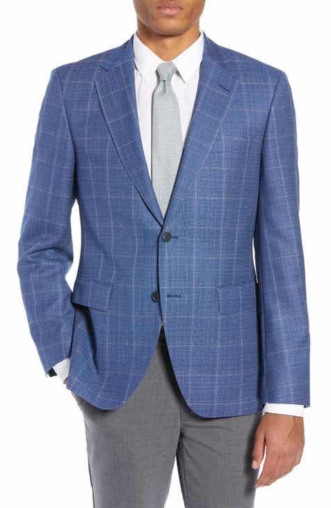 1133637ae BOSS Jewels Classic Fit Windowpane Wool Sport Coat
