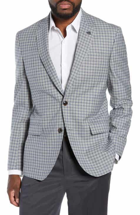 38c4cff808d9 Ted Baker London Jay Trim Fit Plaid Wool Sport Coat