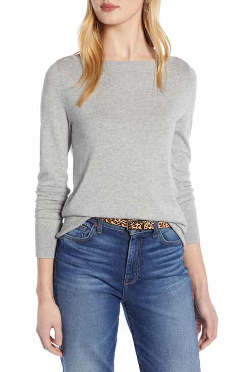 0696e0b9c0f43 Halogen® Bateau Neck Sweater (Regular   Petite)