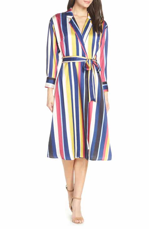 Chelsea28 Stripe Shirtdress ebf1e1557