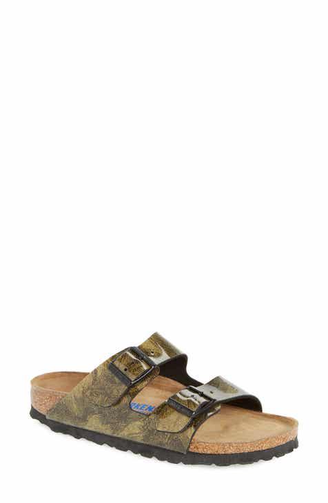 women s metallic slide sandals nordstrom