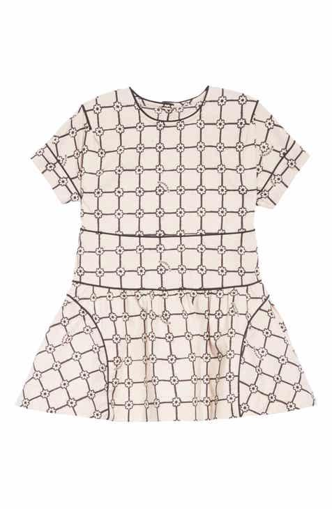 d6f49e8794470 Burberry Piping Detail Flower Print Cotton Dress (Toddler Girls