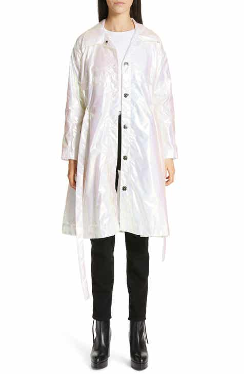 Paskal Iridescent Short Trench Coat by PASKAL