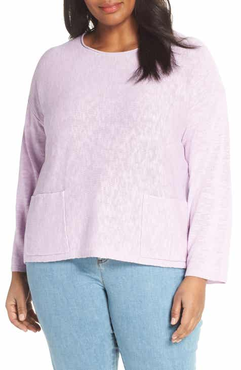37b3da139249 Eileen Fisher Round Neck Sweater (Plus Size)