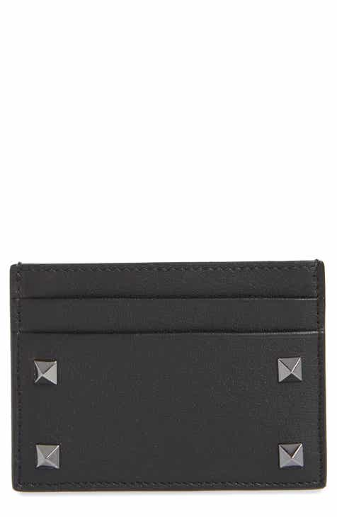 ce7f8c5977 VALENTINO GARAVANI Stud Leather Card Case