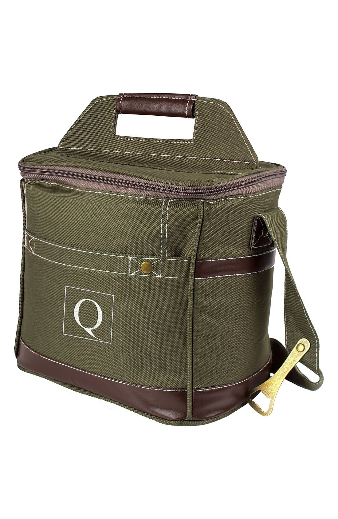 Monogram 12-Bottle Beer Cooler,                             Main thumbnail 1, color,                             Green - Q
