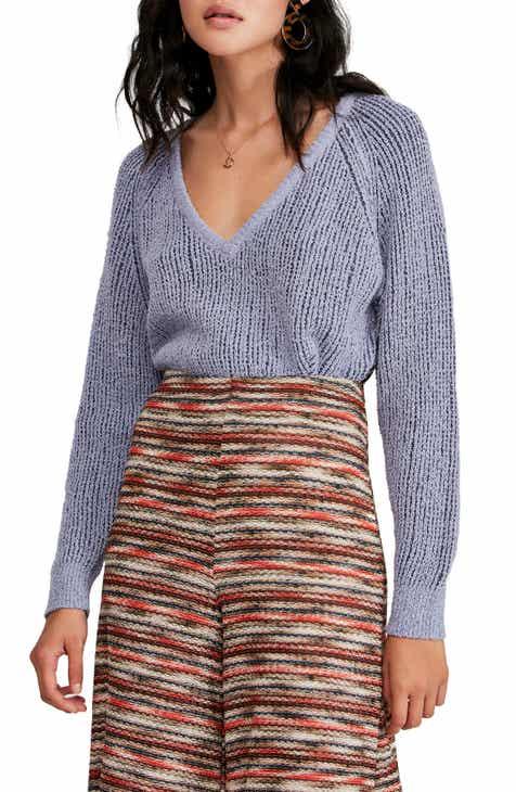 Free People V-Neck Sweater c77e8022e