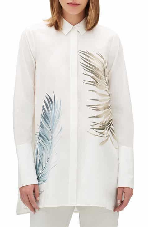29732d29168 Lafayette 148 New York Porto Placed Palms Cotton Tunic