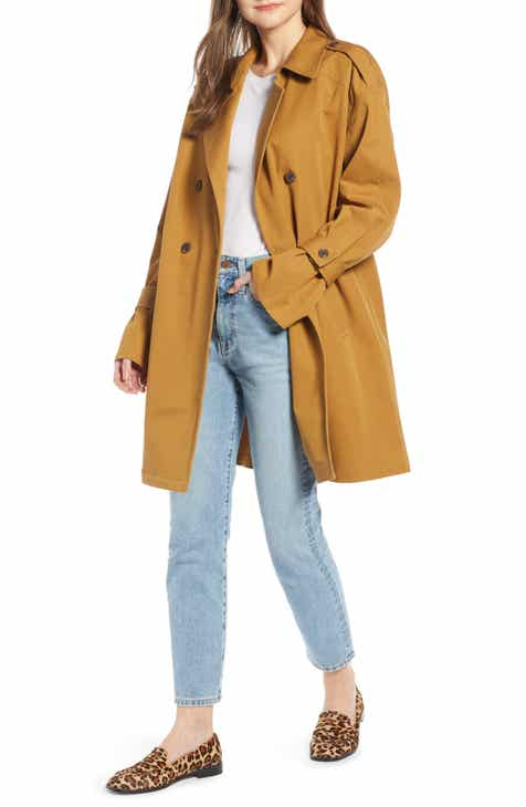 2f3d6da0623 Something Navy Easy Oversize Trench (Nordstrom Exclusive)