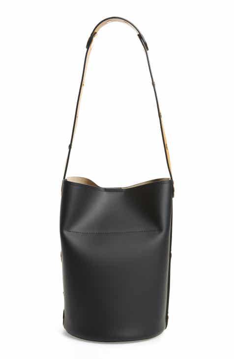 Marni Punch Leather Bucket Bag
