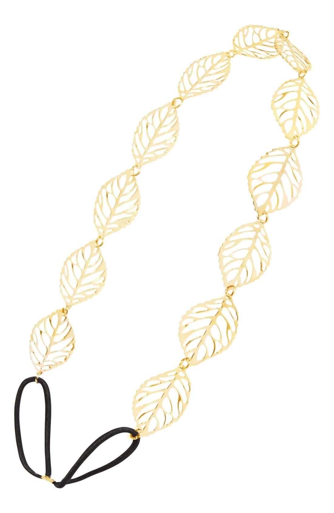 Main Image - BP. Leaf Filigree Headband