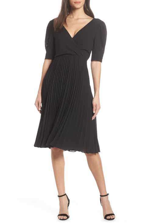 Ali & Jay Angles Flight Chiffon Fit & Flare Dress