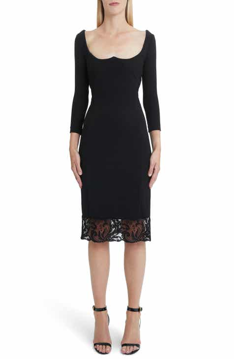 Versace First Line Lace Hem Body-Con Dress by VERSACE FIRST LINE