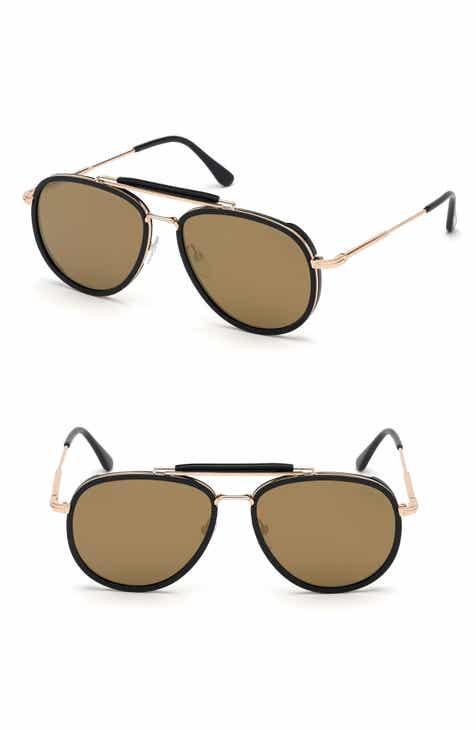 bd37e73d18d4a Tom Ford Tripp 58mm Aviator Sunglasses