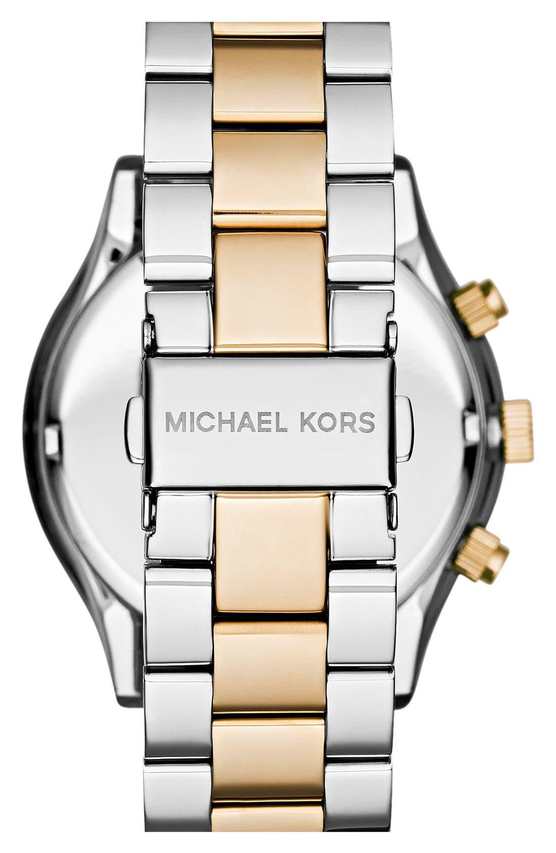 Alternate Image 2  - Michael Kors 'Slim Runway' Crystal Bezel Chronograph Bracelet Watch, 42mm (Nordstrom Exclusive)