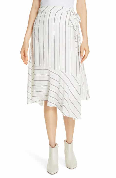a8005e53c6286 Joie Stripe Wrap Skirt