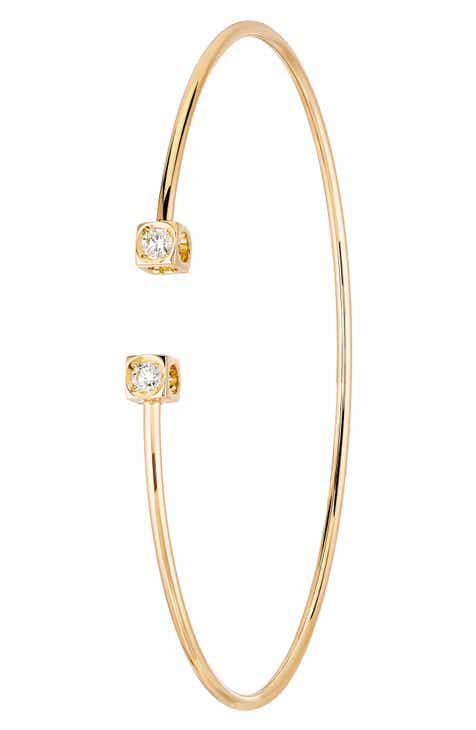 f0d101c32 Dinh Van Le Cube Diamant Small 18K Gold Flex Bracelet