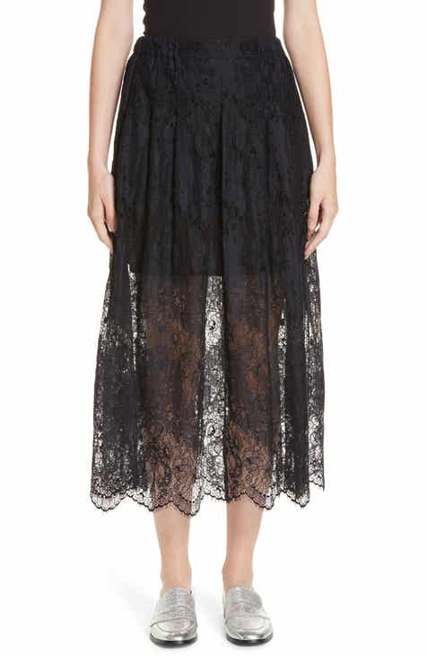 Vince Tie-Front Full Cotton Skirt by VINCE