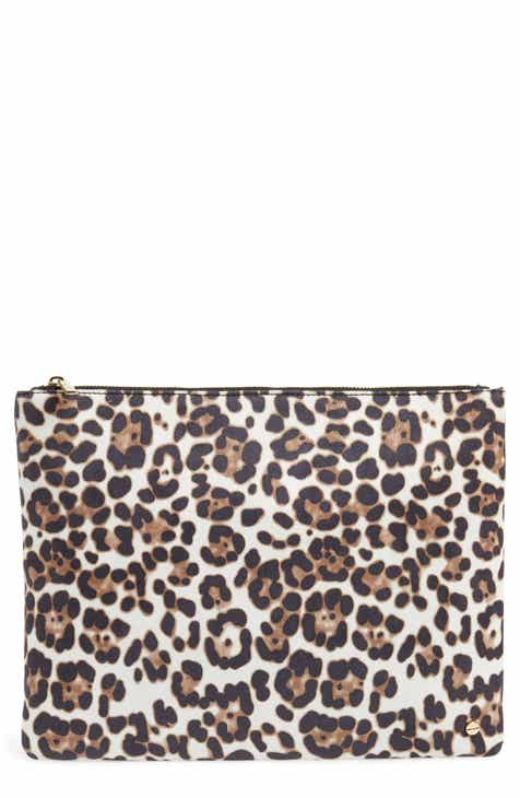 1b384e0f8708 Mali + Lili Molly Leopard Print Vegan Leather Clutch